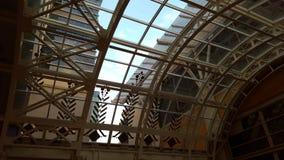 Dekorativ inre valvgångtakfönster Arkivfoton
