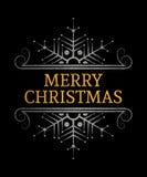 Dekorativ inskrift för glad jul Royaltyfri Bild