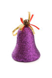 dekorativ isolerad purple för klockajul Royaltyfri Foto
