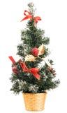 dekorativ isolerad tree för jul Arkivfoto