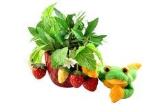 dekorativ jordgubbe Arkivfoto