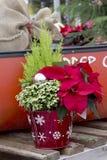 Dekorativ julbehållare Arkivfoton