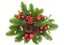 Dekorativ julgrönska Fotografering för Bildbyråer
