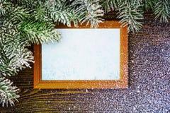 Dekorativ julram och visare Fotografering för Bildbyråer