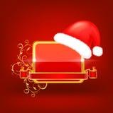 Dekorativ julvektorram fotografering för bildbyråer