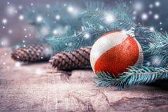 Dekorativ julvykort Fotografering för Bildbyråer