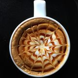 dekorativ kaffekopp Arkivfoton