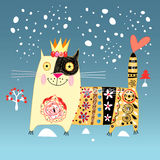 Dekorativ katt Royaltyfria Bilder