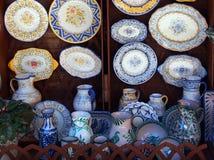 Dekorativ keramik, Toledo, Spanien Arkivfoton