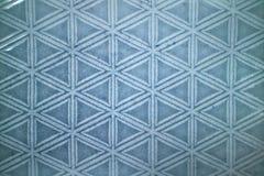 Dekorativ keramisk blåtttegelplatta med den figurerade modellen Royaltyfri Bild