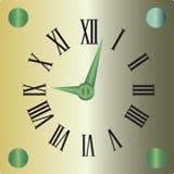Dekorativ klockasymbol Arkivfoto