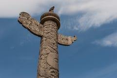 Dekorativ kolonn Arkivfoton