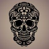 Dekorativ konst av en skalle Royaltyfri Fotografi