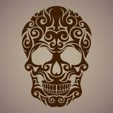 Dekorativ konst av en skalle Royaltyfri Bild
