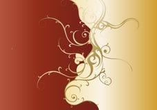 Dekorativ krusidullmalldesign som är guld- Arkivfoto