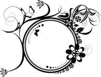 dekorativ krusidullprydnad för cirkel stock illustrationer