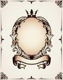 Dekorativ kunglig ram Royaltyfri Fotografi