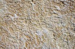 Dekorativ lättnadsmurbruk som imiterar stenar på väggen Arkivfoton