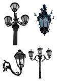 dekorativ lampagata Arkivbilder