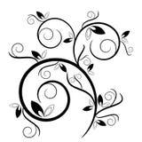 dekorativ leavesswirl Arkivfoto