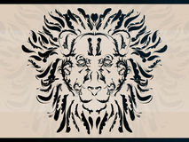 dekorativ lion Royaltyfri Illustrationer