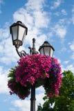 dekorativ ljus gata Fotografering för Bildbyråer