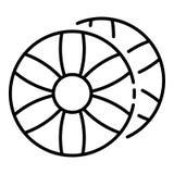 Dekorativ ljusbrun symbol, översiktsstil stock illustrationer