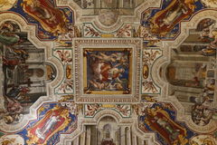 Dekorativ målning i Rome arkivbild