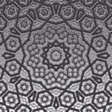 Dekorativ mandala för antik arabesque för lättnad monokrom stock illustrationer