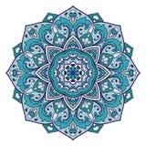 Dekorativ mandala för turkos Arkivfoton