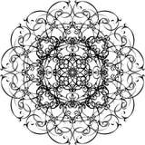 dekorativ mandala tecknad hand royaltyfri illustrationer