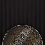 Dekorativ mandalabakgrund Arkivfoton