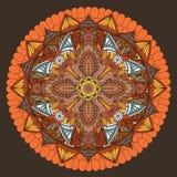 Dekorativ Mandalaprydnad stock illustrationer
