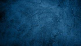 Dekorativ marinblå mörk bakgrund för abstrakt Grunge arkivbild