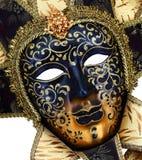 dekorativ maskeringsmasque venice för svart karneval Arkivfoton