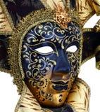 dekorativ maskeringsmasque venice för svart karneval Arkivfoto