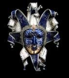 dekorativ maskeringsmasque venice för svart karneval Royaltyfri Bild