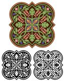 Dekorativ medaljong med variationer Arkivbilder