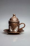 Dekorativ metall rånar för kaffe - Turkiet Arkivbild