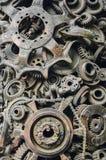 Dekorativ metallbeståndsdelnärbild arkivfoton