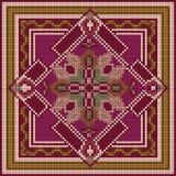 dekorativ modell etnisk prydnad Arkivfoto