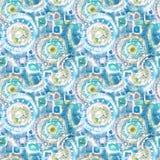 Dekorativ modell för abstrakt sömlös akryl Sömlös textur i impressionismstil för rengöringsduken, tryck, sjalar, tyg, textil, ren Arkivbilder