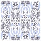 Dekorativ modell för blom- curvy broderi royaltyfri illustrationer