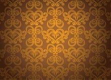 dekorativ modell för guld Arkivfoto
