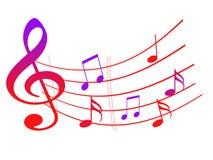 Dekorativ modell för musikaliska anmärkningar Arkivfoton