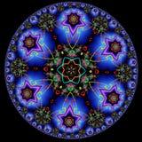 Dekorativ modell för rund fractal Arkivfoton