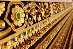 Dekorativ modell för thailändsk konst royaltyfri foto