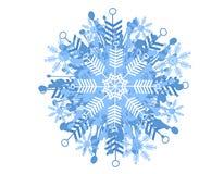 dekorativ modellsnowflake royaltyfri illustrationer