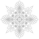 dekorativ modellvektor Arkivbild
