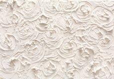 Dekorativ murbruktextur, blommamodell Arkivbilder